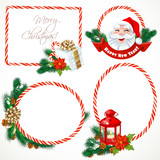 Collectiont of Christmas stickers and banners