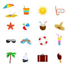beach icon color vector illustration