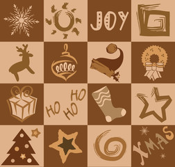 Christmas holiday vector collage