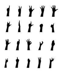 Arm gestures, vector