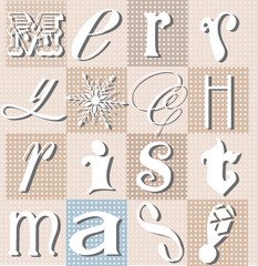 Christmas holiday typographic collage