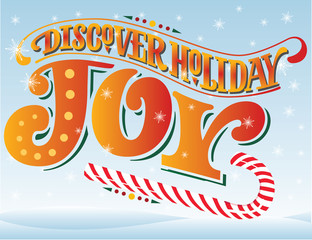 Discover Holiday Joy vector illustration