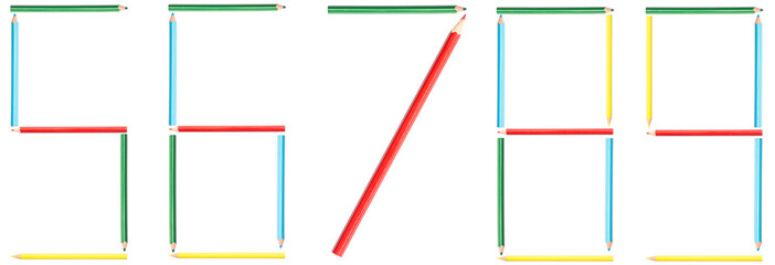 Coloring Pencils Numbers 5-9 Set