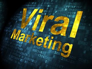 Advertising concept: Viral Marketing on digital background