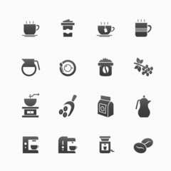 Coffee vector symbol icon set