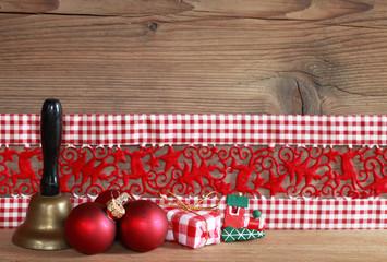 Deko Weihnachten mit Glöckchen