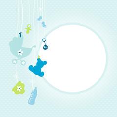 Hanging Baby Symbols Boy Blue Dots