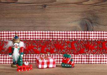 Deko Weihnachten mit Textfreiraum