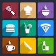 Kitchen flat icons set 23
