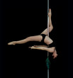 attractive sexy woman pole dancer