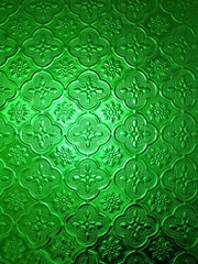 abstract transparency green glass