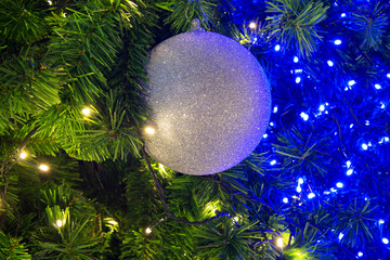 Christmas tree and decorations and lights