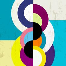 fond abstrait, cru / conception géométrique rétro, sale