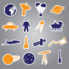 space stickers set eps10