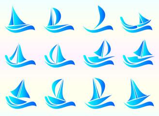 яхта , набор иконок