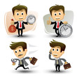 vector businessman in various poses