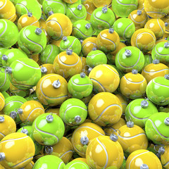 Tennisbälle, Tennisball Weihnachtskugeln schwarz weiß