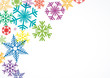 Vector Colorful Winter Background