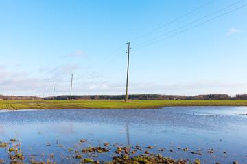 Wet field.