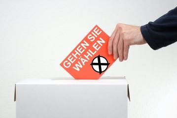 Nicht vergessen: Gehen Sie wählen
