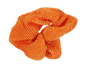 Orange Scrunchy Hair Holder