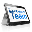 Business concept: Executive Team on tablet pc computer