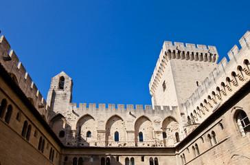 Papal Palace (circa 1370). Avignon, France