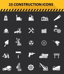 Construction icons,Gray background