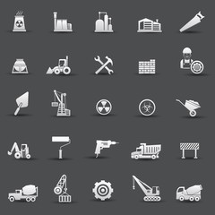 Construction icons,vector