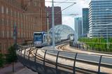 modern tram track