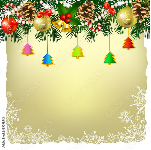 Christmas decoration , greeting card