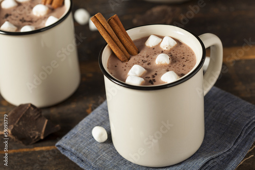 Foto op Canvas Chocolade Gourmet Hot Chocolate Milk