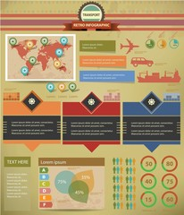 Transport Infographics,Graphi cs design,retro style