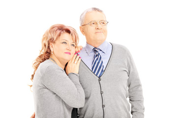 Portrait of loving middle aged couple posing