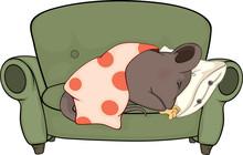 Śpiąca myszy kreskówki
