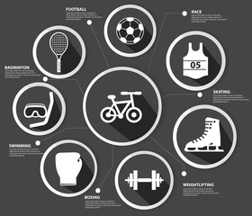 Sports concept,Black version,vector