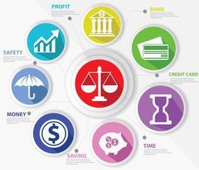 Business,Law and finance concept,Abstract,Colorful version