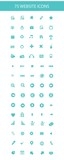 75 Website icons,Blue version,on white background,vector