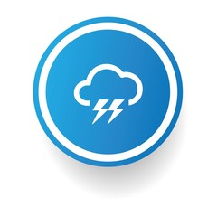 Storm symbol,Button on white background,vector