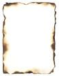 Leinwanddruck Bild - Burned Edges Frame