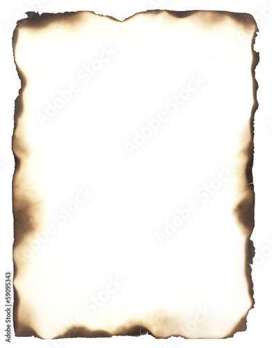 Leinwanddruck Bild Burned Edges Frame