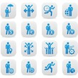 Human resource,Businessma n icons,Blue version,vector