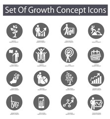 Growth concept icons,Gray version