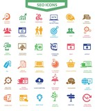 Set Of SEO and Modern Website Icons,Colorful version,vector