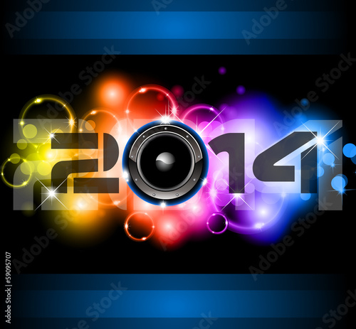 2014 New Year Colorful Background
