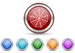 spider icon vector set