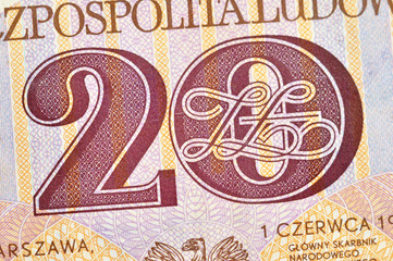 Polish old banknotes