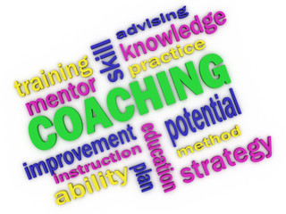 3d imagen about coaching concept