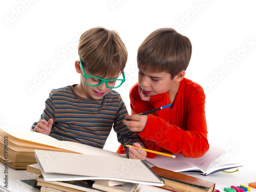 boys learning together