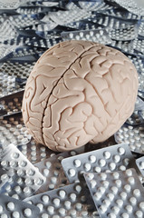 Brain with pills